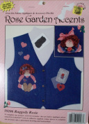Raggedy Rosie Iron On Fabric Applique and Accessory Pin Craft Kit