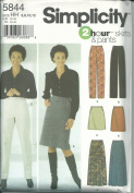 Simplicity 5844 HH Sewing Pattern Misses 2 Hour Skirt & Pants Size 6-12
