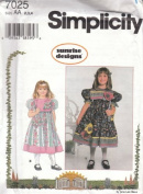 Simplicity 7025 Toddler Girl's Dress & Purse, Size 2, 3, 4