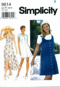 Simplicity 9614 Sewing Pattern Misses Dress Jumper Top Size 6 - 10 - Bust 30 1/2 - 32 1/2