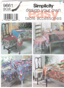 Simplicity Design Your Own Easy Table Accessories Pattern 9661
