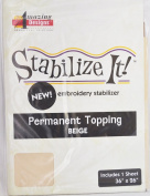 STABALIZE IT EMBROIDERY STABALIZER. PERMANENT TOPPING BEIGE 1 YD