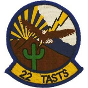 US Air Force Military Iron On Patch - 22 TASTS Tactical Air Support Training Squadron