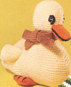 Vintage Knitting PATTERN to make - Knitted Duck Duckling Baby Toy Stuffed Animal. NOT a finished item. This is a pattern and/or instructions to make the item only.