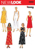 New Look Sewing Pattern 6866 Misses Dresses, Size A