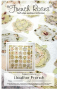 French Roses Quilt Pattern, Easy Soft (Raw) Edge Applique, 140cm Square Finished Size