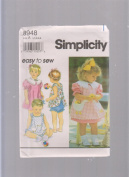 Simplicity Easy to Sew Toddlers' Dress ; Sewing Pattern 8948