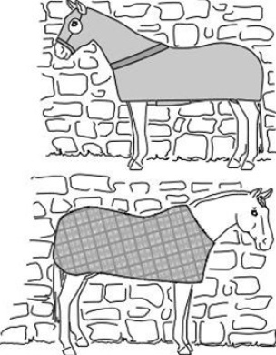 Suitability 7840 Horse Body Cover and Stretch Sheet Equestrian Sewing Pattern (Pattern Only)