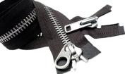 90cm YKK Parka Zipper (Special) #10 Aluminium Chaps Extra Heavy Duty 2 Way Separating ~ Colour 570 Brown