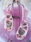 Quilted Baby Ballet Shoes Sewing Pattern by Curbys Closet