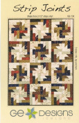 Strip Joints Quilt Pattern, Jelly Roll 6.4cm Strip Friendly, Crib, Lap and Twin Finished Sizes