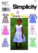 Simplicity 8027 Sewing Pattern Girls 6 made easy Dresses Size 2 - 3 - 4