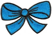 Blue Bow Knot Ribbon Boho Retro Sew Sewing Applique Iron-on Patch New S-439 Cute Gift to Your Cloth.