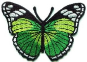 Butterfly Hippie Green Applique Iron-on Patch New S-163 Cute Gift to Your Cloth.