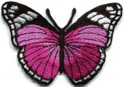 Butterfly Hippie Retro Embroidered Iron-on Patch S-159 Cute Gift to Your Cloth.
