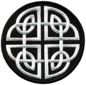 Celtic Knot Irish Goth Biker Tattoo Wicca Magic Applique Iron-on Patch New S-599 Cute Gift to Your Cloth.
