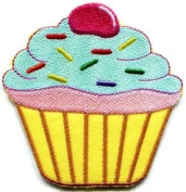 Cupcake Snack Fairy Cake Sweets Retro Disco Fun Applique Iron-on Patch New S-205 Cute Gift to Your Cloth.