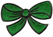 Green Bow Knot Ribbon Boho Retro Sew Sewing Applique Iron-on Patch New S-444 Cute Gift to Your Cloth.