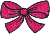 Hot Pink Bow Knot Ribbon Boho Retro Sew Sewing Applique Iron-on Patch New S-443 Cute Gift to Your Cloth.