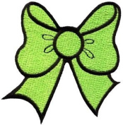 Light Green Bow Knot Ribbon Boho Retro Sew Sewing Applique Iron-on Patch G-22 Cute Gift to Your Cloth.