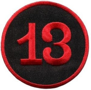 Lucky 13 Thirteen Biker Retro Emo Punk Rockabilly Applique Iron-on Patch S-578 Cute Gift to Your Cloth.