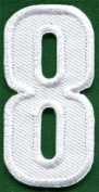 Number 8 Numeral Math Counting Eight School Applique Iron-on Patch New S-943 Cute Gift to Your Cloth.