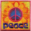 Peace Sign Hippie Boho Retro Flower Love Hippy Applique Iron-on Patch G-112 Cute Gift to Your Cloth.