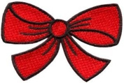 Red Bow Knot Ribbon Boho Retro Sew Sewing Applique Iron-on Patch New S-513 Cute Gift to Your Cloth.