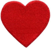 Red Heart Love Valentine's Day 70s Retro Party Fun Applique Iron-on Patch S-642 Cute Gift to Your Cloth.