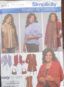 SIMPLICITY PATTERN 4051 WOMEN'S JACKETS, VEST AND BAG SIZE FF 18W-24W
