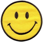 Smiley Face Retro Boho Hippie 70s Fun Smile Applique Iron-on Patch New S-716 Cute Gift to Your Cloth.