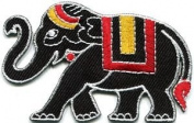 Thai War Elephant Thailand Elephantry Wildlife Applique Iron-on Patch New S-577 Cute Gift to Your Cloth.