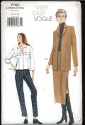 Vogue Very Easy Sewing Pattern 7180 - Misses' Jacket, Skirt & Pants