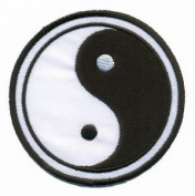 Yin Yang Ying Tao Hippie Hippy Retro Boho Weed Applique Iron-on Patch S-92 Cute Gift to Your Cloth.