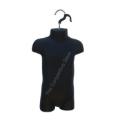 Infant Mannequin Body Form - Use For Display 9mo-12mo Infant Clothing - Black