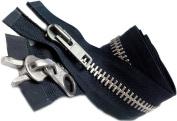 90cm YKK Parka Zipper (Special) #10 Aluminium Chaps Extra Heavy Duty 2 Way Separating ~ Colour 560 Navy