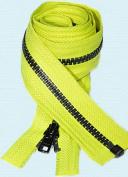 90cm Jacket Zipper YKK#5 ~ YKK's High Visibility Vislon Nomex - Separating Zip YKK Colour T233 Neon Yellow