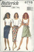 Butterick 6715 Sewing Pattern Misses Easy Skirts Size 12-16