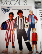 McCall's 7107 Boys Sport Vest, Pants & Shorts Sewing Pattern by French Toast