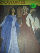 Mccall's Costumes Sewing Pattern #3653 Misses Renaissance/Camelot Costume Misses size EE