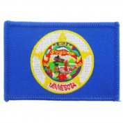 Minnesota State Flag Patch 6.4cm x 8.9cm