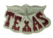 Silver Texas Lone Star Long Horn Belt Buckle