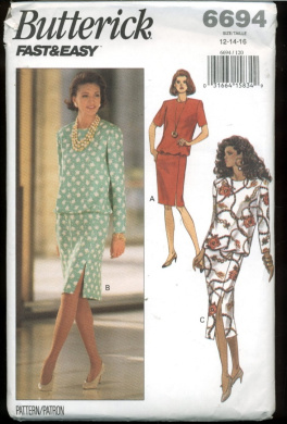Butterick Fast & Easy Sewing Pattern 6694- Misses' Dress - Sizes 12, 14, 16
