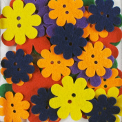 Favourite Findings 48-Piece Big Bag of Felt Buttons, Garden Party