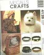 OOP McCall's Crafts Pattern 4128. Pet/dog/cat Carriers & Collars. Adorable!