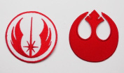 "STAR WARS ""JEDI ORDER"" & ""REBEL ALLIANCE""Embroidered iron-on/sew-on patch"