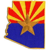 Arizona Flag (State Shaped)
