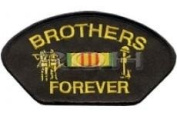 BROTHERS FOREVER VIETNAM CAMPAIGN RIBBON BLACK PATCH(Can be sewn or ironed on jacket or hat) Patch 7.6cm x 13cm
