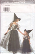 Butterick 3588 Sewing Pattern Girls Witch Costume Size 4-14