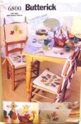 Butterick 6800 Fall Table Top and Chair Cushions with Leaf Appliques